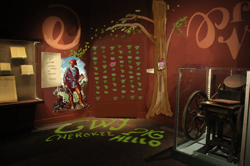Children's Exhibit on the Cherokee Syllabary for the Museum of the Cherokee Indian designed by Atomic Carrots