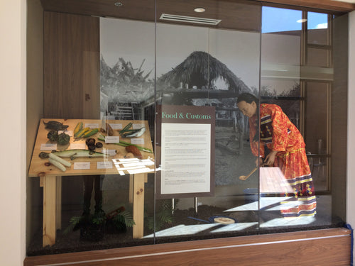 Food and Culture Exhibit (1 out of 3), at the Brighton Administration Building of the Seminole Tribe of Florida