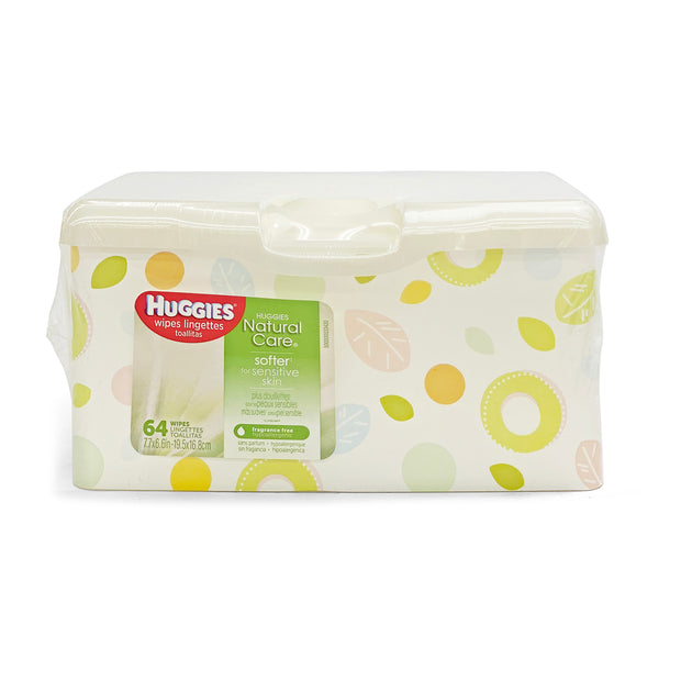 HUGGIES 64CT TUB NTRL FRAG FRE