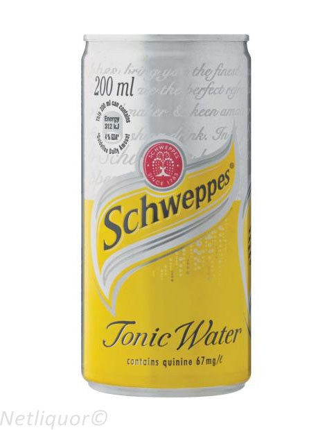 Schweppes Tonic Water Can 200ml - Case