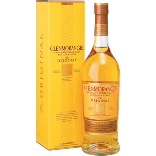 Glenmorangie 10 Year Single Malt Whisky Bottle 750ml