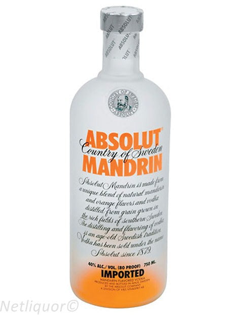 Absolut Flavoured Vodka Manderin 750ml