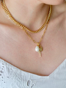 Pearl Padlock Necklace