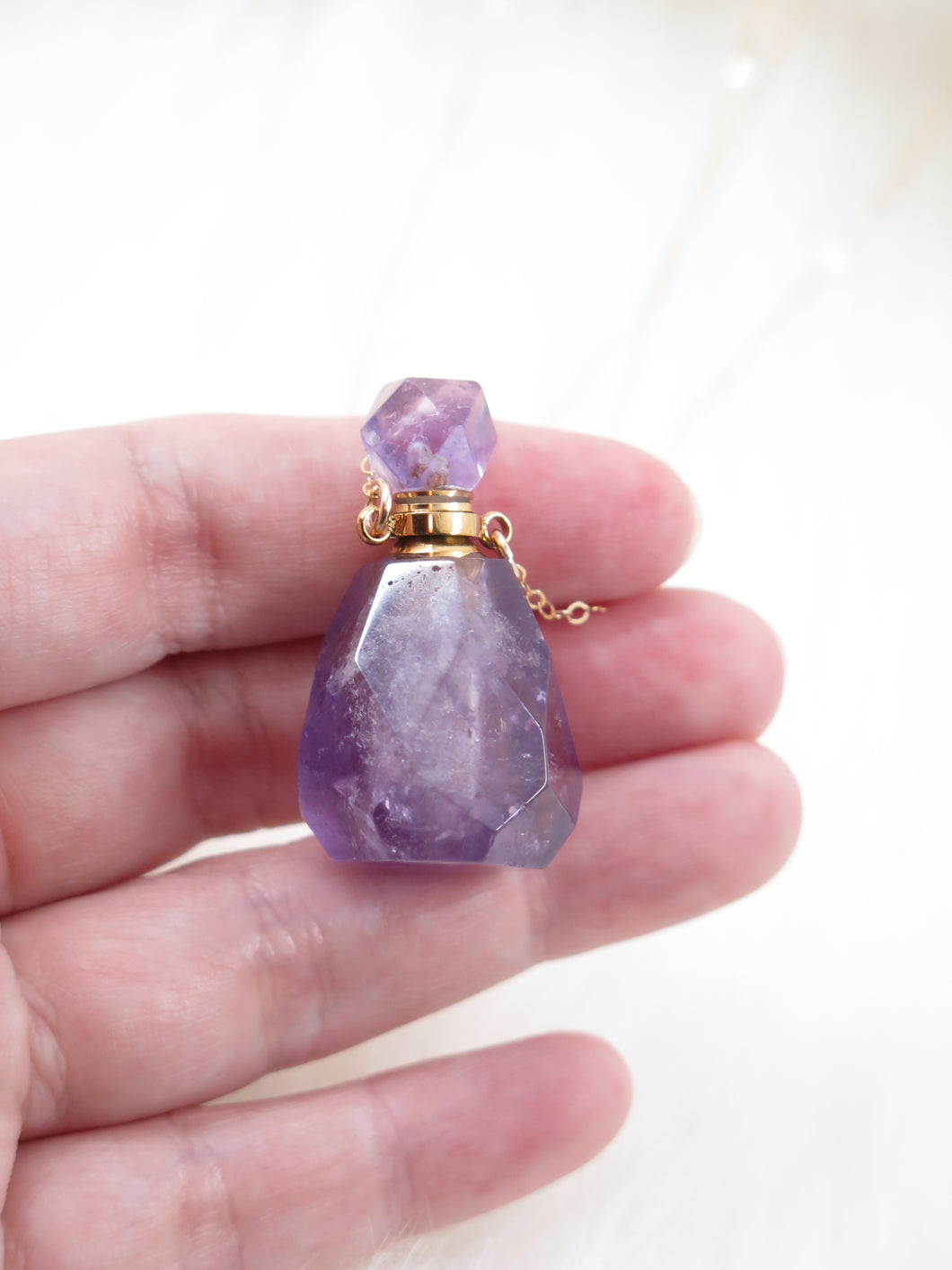 Crystal Vial Necklace