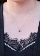 Load image into Gallery viewer, Black Druzy Oval Necklace