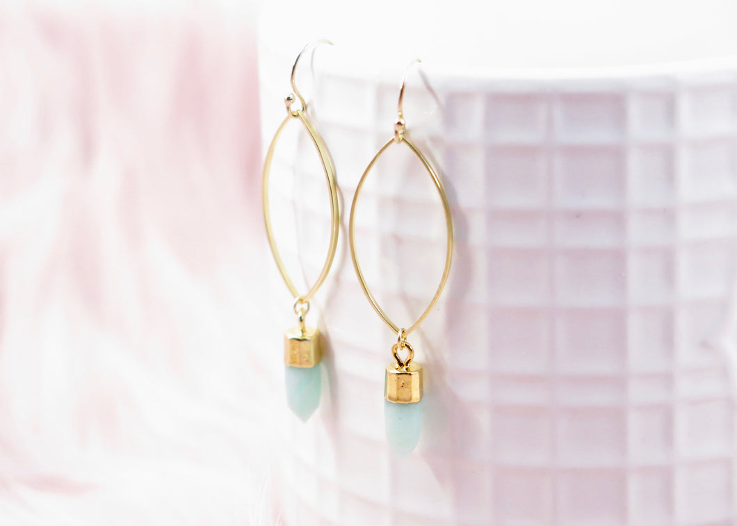 Amazonite Dangle earrings