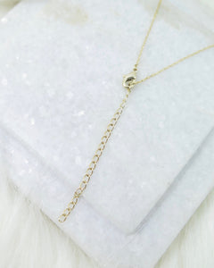 Gold Plated Tiny Yolo Necklace