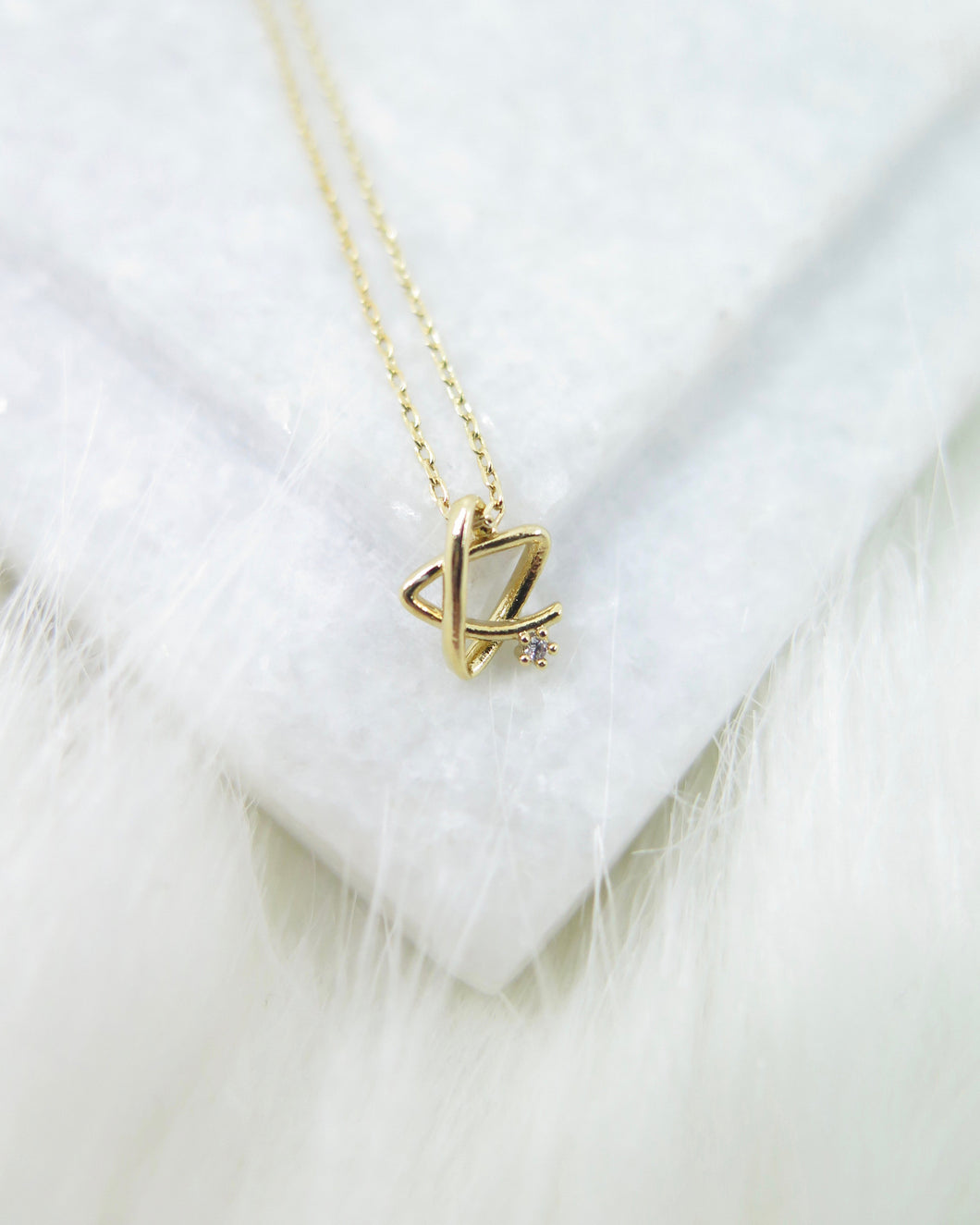 Gold Plated Tiny Star Necklace