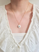 Load image into Gallery viewer, Pearl Evil Eye Necklace