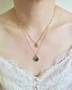 Gold Small Coin Necklace