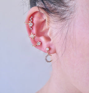 Moon + Star Dangle Earrings