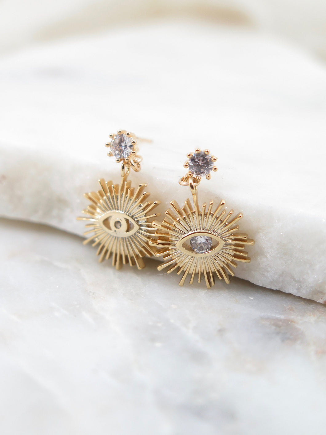 CZ Evil Eye Earrings