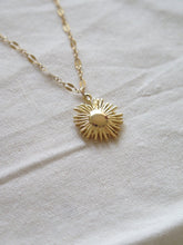 Load image into Gallery viewer, Gold Sun Pendant Necklace