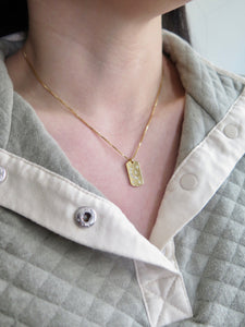 Moon and Star Bar Necklace