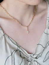 Load image into Gallery viewer, Opal Star Paperclip Chain Necklace