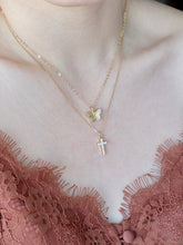 Load image into Gallery viewer, Dainty CZ Cross Necklace