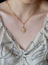 Load image into Gallery viewer, Gold Coin Rose Necklace