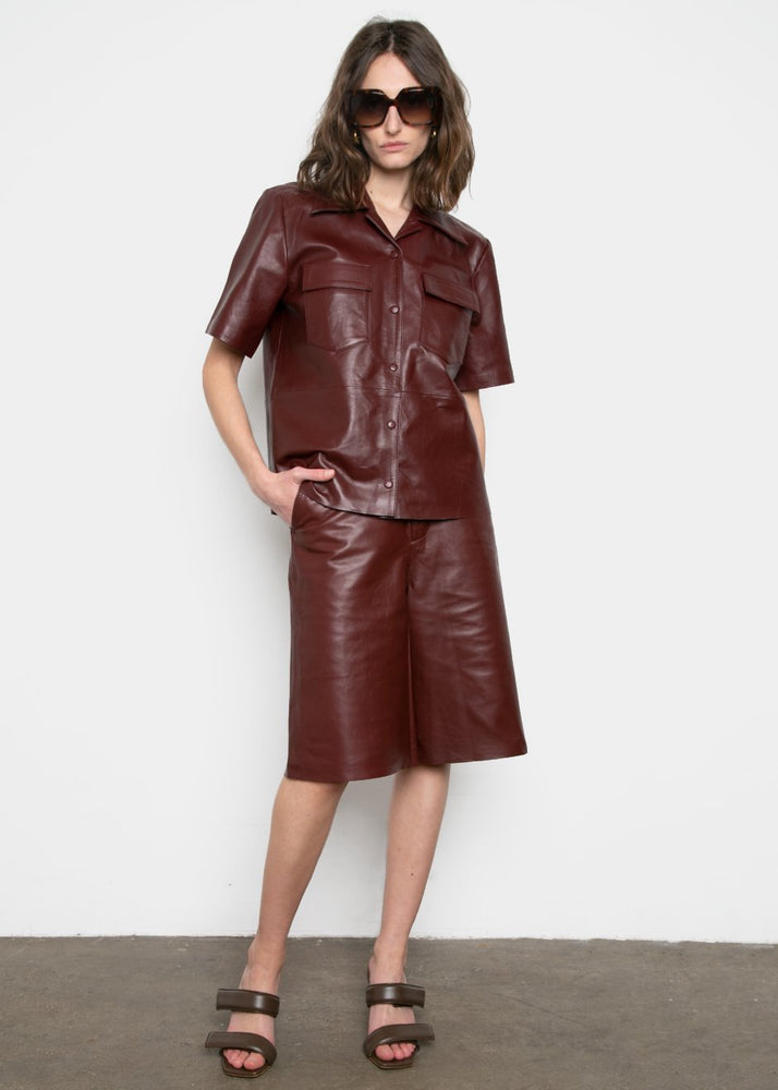 Sienna Leather Shirt