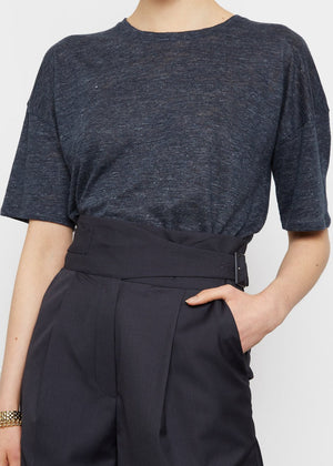 Paea Linen T-Shirt by Loulou Studio