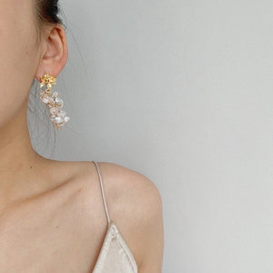 June irregular pearl earrings