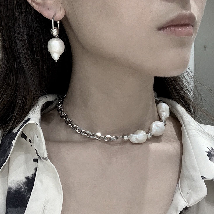 Load image into Gallery viewer, Charlotte pearl link choker