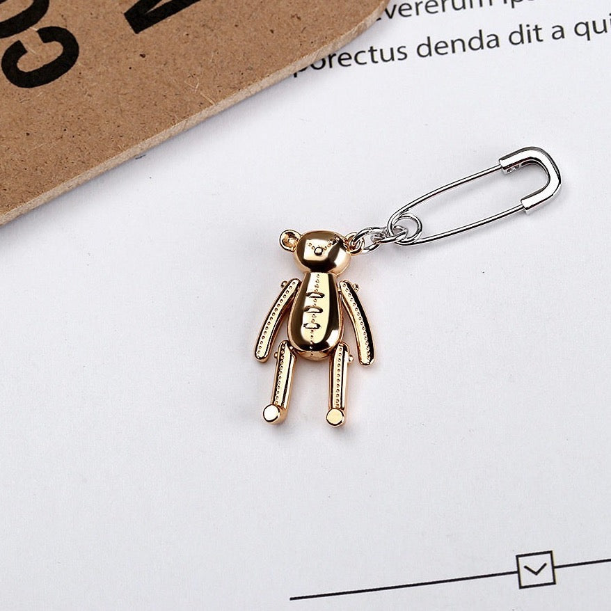 Load image into Gallery viewer, Teddy pin earring