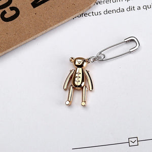 Teddy pin earring