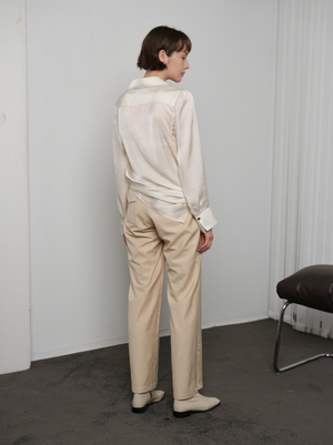Load image into Gallery viewer, Side knot satin shirt