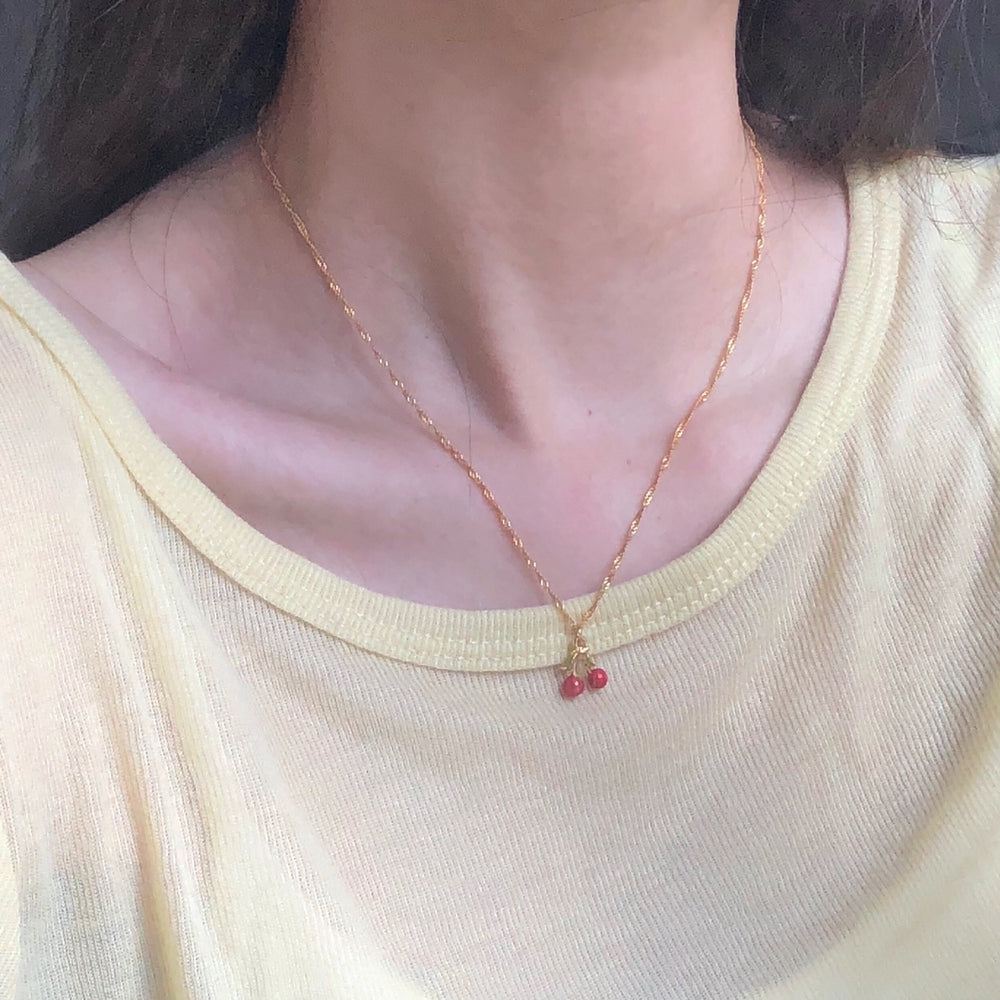 Sherry cherry necklace