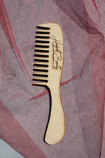 Wide tooth wooden comb set