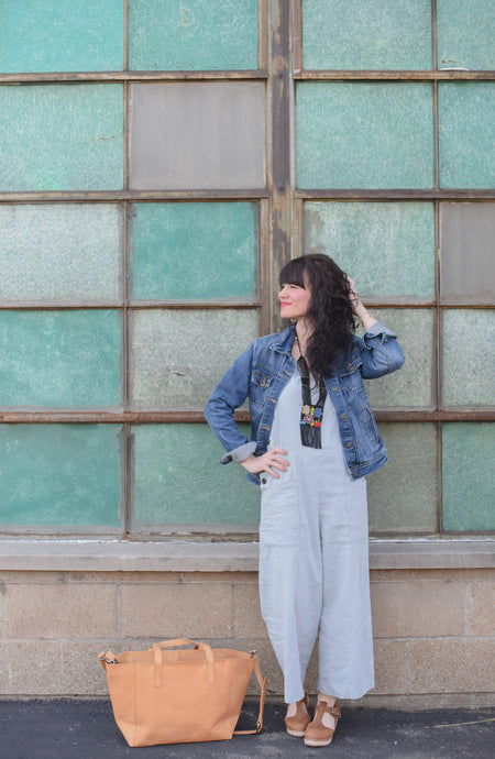 Noonday Collection Accessories + Our Chambray Jumpsuit