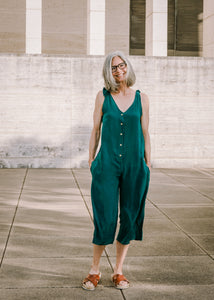 Machine-Washable 100% Silk Crepe Jumpsuit