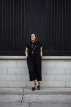 Load image into Gallery viewer, Handwoven Cotton Katie Crop Set in Black - Pre-order