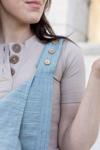 Handwoven Cotton Dilsi Overalls in Silver