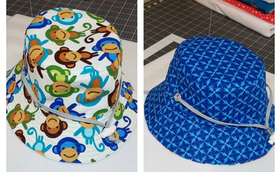 Add a Drawstring to Reversible Bucket Hat