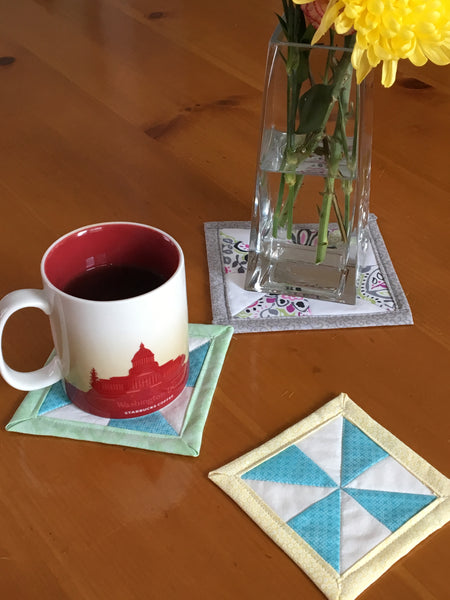Pinwheel Coasters Scrap Piece Project (SPP)