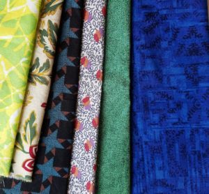 Fabrics for Slice and insert quilt
