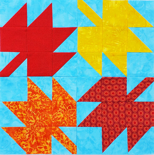 Autumn Leaves Quilt Block, Digital Download