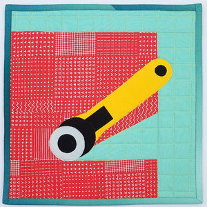 Rotary Cutter Quilt Block, Digital Download