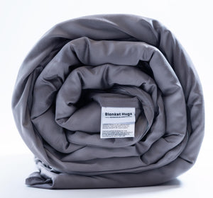 The Blanket Hug - Weighted Blanket with Bamboo-Cotton Duvet Cover by Blanket Hugs.