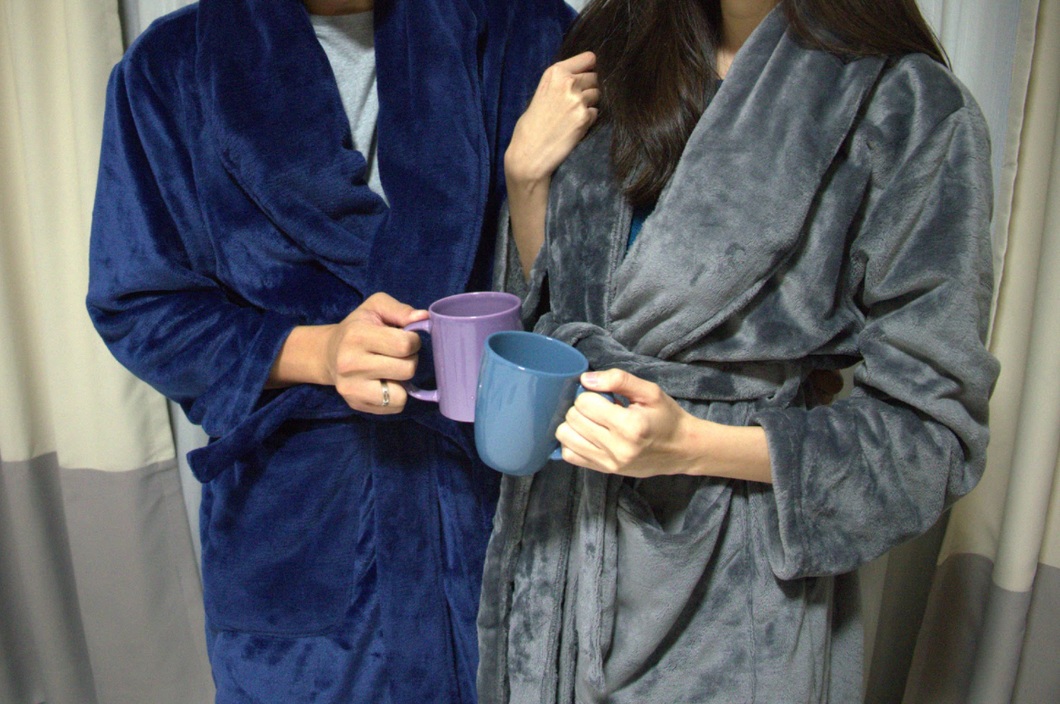 Weighted Robe by Blanket Hugs.