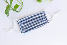 Charger l'image dans la galerie, Cotton cloth face mask, Blue Checks
