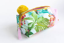 Load image into Gallery viewer, Makeup Bag - Tropical and Stripes