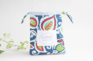 Beach Wet bag - Swimsuit bag - Big Leaves pattern