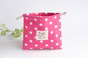 Beach Bag | Pink Polka Dots