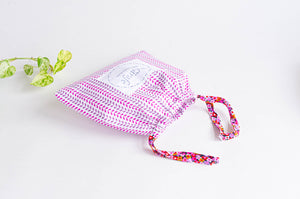 Beach Bag | Pink Flowers & Leaves