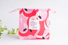 Load image into Gallery viewer, Beach bag with flamingo all over print