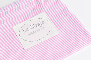 Reusable Wet Bag - Pink Stripes