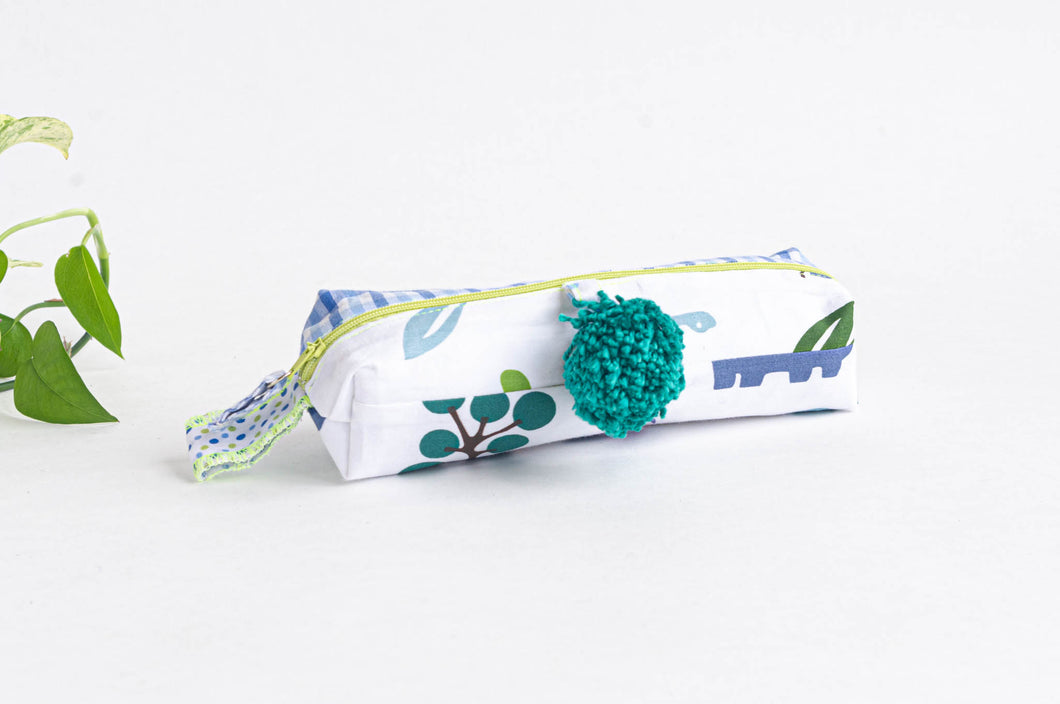 Pencil Case | Green Pattern