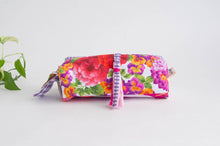 Load image into Gallery viewer, Pencil Case - Flower & Checks print